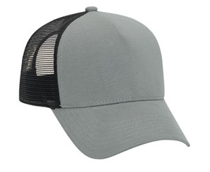 Grey black Flannel front mesh Low Profile Trucker Hat Mesh Hat Justin Bieber style