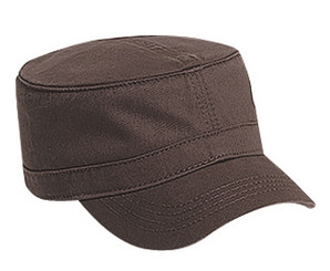 Brown cotton Military cap fatigue hat cadet hat
