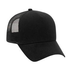 solid black soft flannel front hat