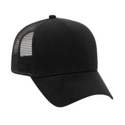 solid black soft flannel front hat