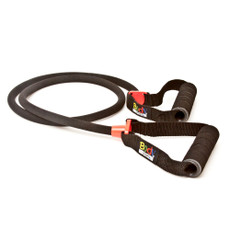 BLACK BODY SPORT COVERED RESISTANCE TUBE WITH FOAM HANDLE, MEDIUM RESISTANCE