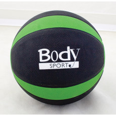 GREEN 6 LBS BODY SPORT MEDICINE BALL WITH ILLUSTRATED EXERCISE GUIDE