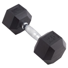 25 LBS BODY SPORT RUBBER ENCASED HEX DUMBBELL