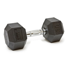 30 LBS BODY SPORT RUBBER ENCASED HEX DUMBBELL