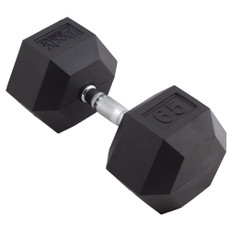 65 LBS BODY SPORT RUBBER ENCASED HEX DUMBBELL