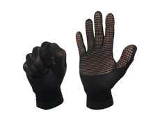 The worlds best running gloves   FLUX ZERO's were developed for environmental temperatures around 0C and above.  Tested using FLIR thermal imaging technology, the gloves are an elegant and simple design that allows smart runners to better control the temperature of their hands on chilly runs.  Colder than 0C...try our SUB-ZERO's.  Tech Facts No more sweaty hands, we got climate control here! Only 16g...super light 400gsm insulation Ultra compact for stowing in a running belt or pocket    Extra Information Too many times have we, as runners, been fed up with hot, clammy and sweaty hands when running in our standard gloves. The only options are, to take them off, grin and bear it, or throw the gloves away! All of this breaks our stride & we just want to enjoy the run!  So, we designed our own! FLUX gloves use a novel mesh pattern incorporated in the palm and fingers of the glove. This allows the runner to control the temperature of the hand and release the build up of sweat. Simply open the hand to cool & close the hand to warm. The clever design uses a unique robotic knitting technology to deliver true functionality and comfort. Smart hey!  During rigorous field testing the temperature of the hand was measured using a thermal camera; the gloves allowed a 5C range of control in the FLUX gloves. Not only do the gloves provide climate control you can feel, they are also only a 10th of the weight of some standard running gloves, being super small they are easy to fit in your pocket or running belt.  Patent 1416642.5 GB