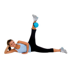 Power Yoga & Pilates Soft Weighted Ball Features  • Soft weighted ball ideal for power yoga and Pilates.  • Provides resistance training for muscle toning.  • Attachable handle for intense workout; detachable for traditional weight ball use.  • Easily transportable.  • Instruction sheet included.  • Available in the following weight and color combinations: 3 lb. (teal/green), 4 lb. (teal/red), 5 lb. (teal/orange) and 6 lb. (teal/gray).   SPECS    Color:    Teal/Greay,  Teal/Green,  Teal/Orange,  Teal/Red     Weight:    3 lbs.,  4 lbs.,  5 lbs.,  6 lbs.     Type:    Soft Weights