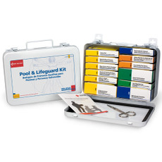 First Aid Only Pool & Lifeguard Emergency First Aid Kit, Metal Case, 280-U/FAO