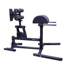 Features:  •Unique pivot mechanism enables easy foot plate adjustment. •Bolt-together design for easy assembly in just 15-20 minutes. •Thick padding with a durable vinyl cover. •Casters make this unit easy to move. •A commercial quality GHD for a home gym price.