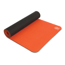 "Powerhouse PRO Mat Features  Floor exercises, stretching, Pilates, Yoga and more. Safe for user and environment. Made from non-toxic foam with no PVC, halogen or phthalates. Easy to clean and won't absorb sweat. Dimensions: 24"" x 72"". Color: orange/black. Latex-free. SPECS  Color: Orange Length: 72"" Thickness: 9.5 mm Width: 24"""