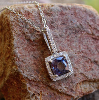 purple sapphire w/ diamonds pendant 1 by michael couch at all that glitters colorado springs co