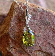 peridot x bar pendant 1 by mac tippit at all that glitters colorado springs co