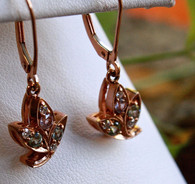 leaf rose gold earrings 2 at all that glitters colorado springs co