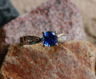 cathedral style sapphire ring 1 at all that glitters colorado springs co