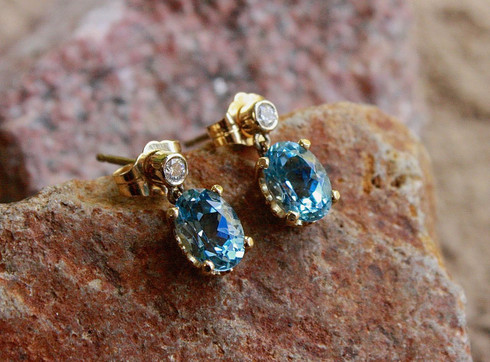 aquamarine diamond earrings 1 at all that glitters colorado springs co