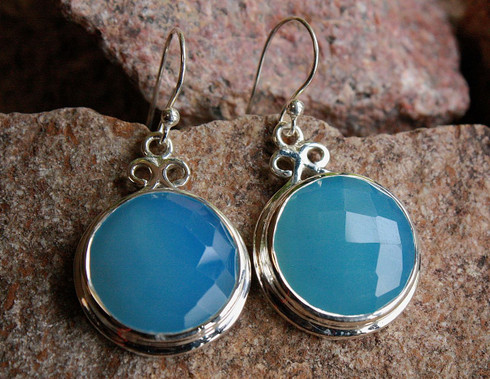 chalcedony round earrings 1 at all that glitters colorado springs co