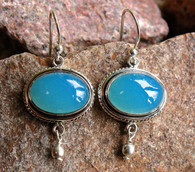 chalcedony oval cut earrings 1 at all that glitters colorado springs  co