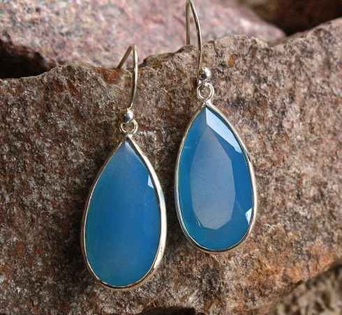 chalcedony tear drop earrings 1 at all that glitters colorado springs co