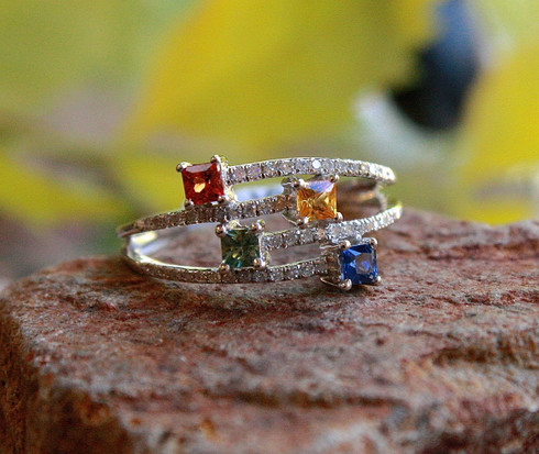 rainbow sapphire ring 1 by michael couch at all that glitters colorado springs co