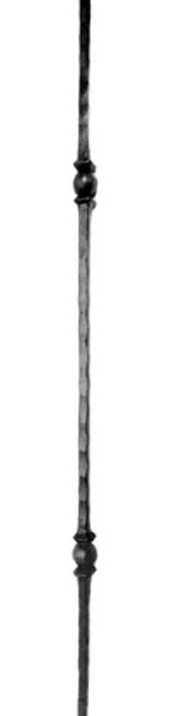 Double Sphere hammered iron baluster
