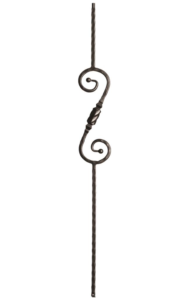 decorative hammered scrolls
