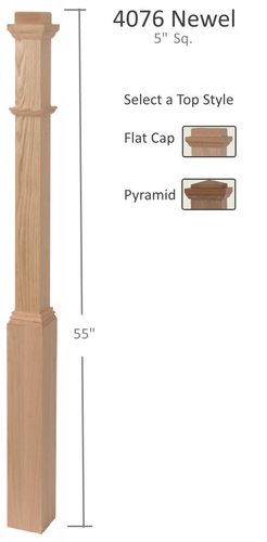 5 inch box newel post