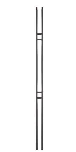 Contemporary stair balusters Alto series 2 bar modern styles