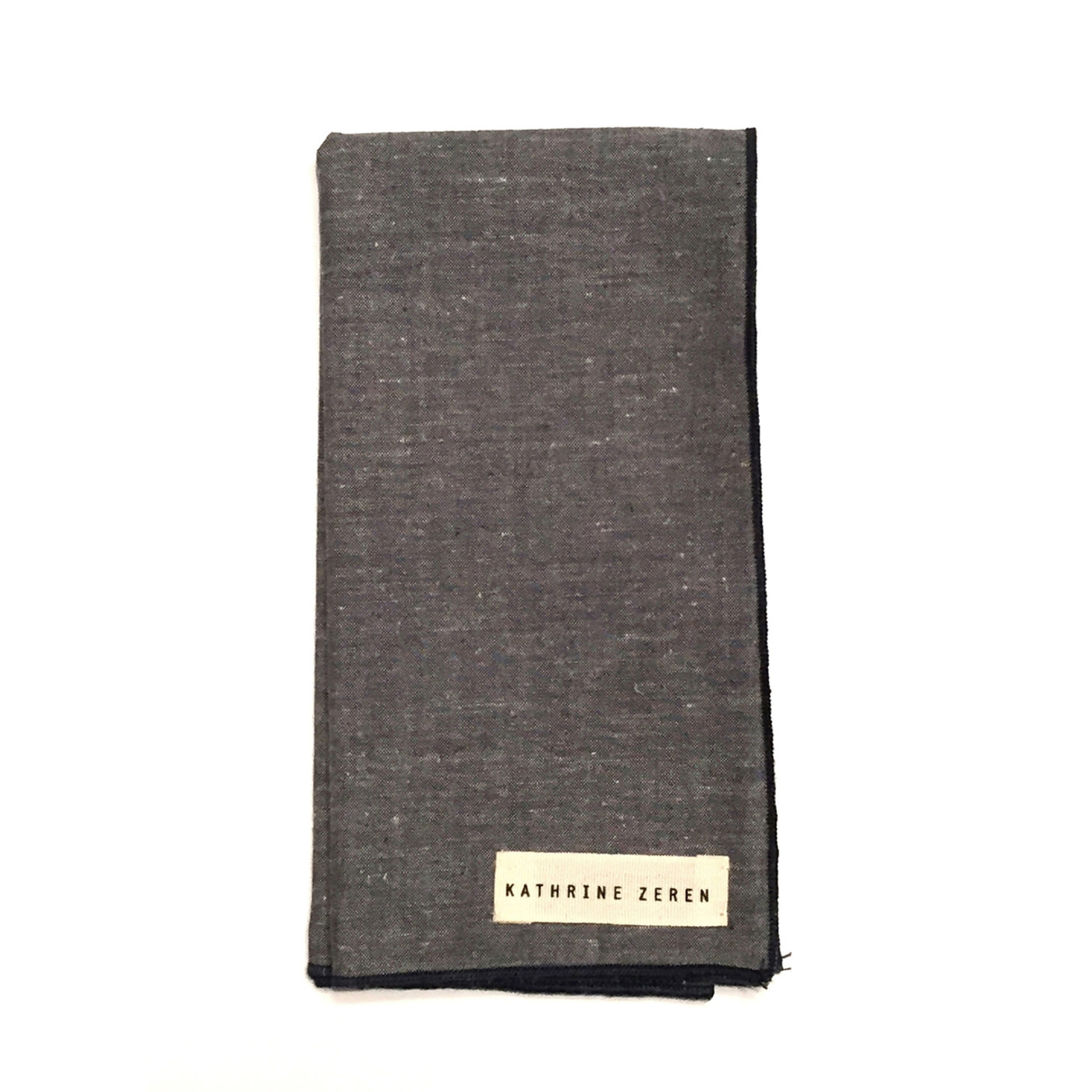 Grey Chambray Pocket Square