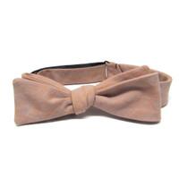 Coral & Grey Bow Tie