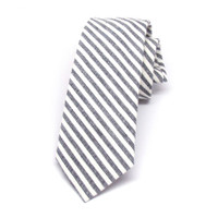 Cream & Charcoal Stripe Necktie