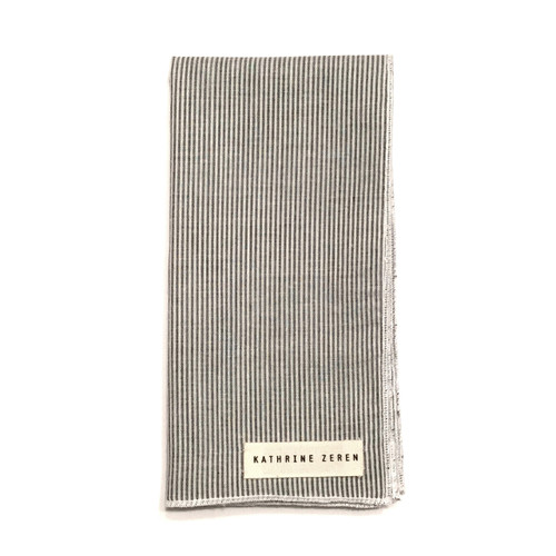 White & Grey Pocket Square