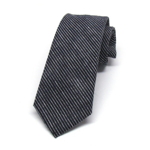 Navy Grounded Stripe Necktie