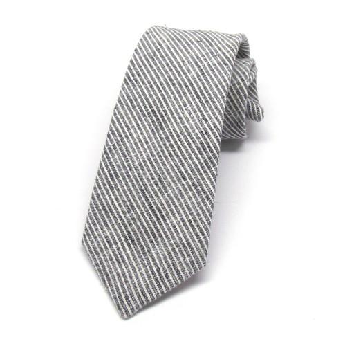 Grey & White Stripe Necktie