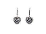 Heart Drop Earrings (E18)