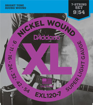 D'Addario EXL120-7 Nickel Wound 7-String Electric Guitar Strings, Super Light, 9-54
