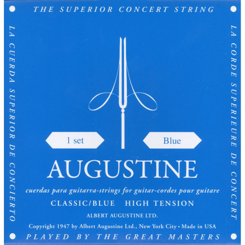 Augustine 525A Gut Classical Guitar Strings, High Tension - Blue