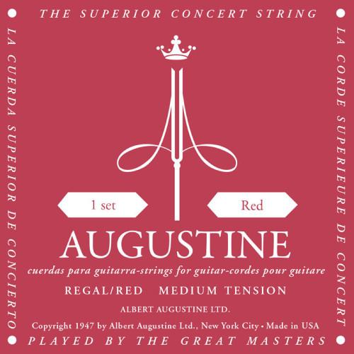 Augustine Classical Guitar Strings, Medium Tension - Red