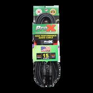 ProX XC-MIC15 XLR-F to XLR-M Balanced High Performance Microphone Cable 15FT