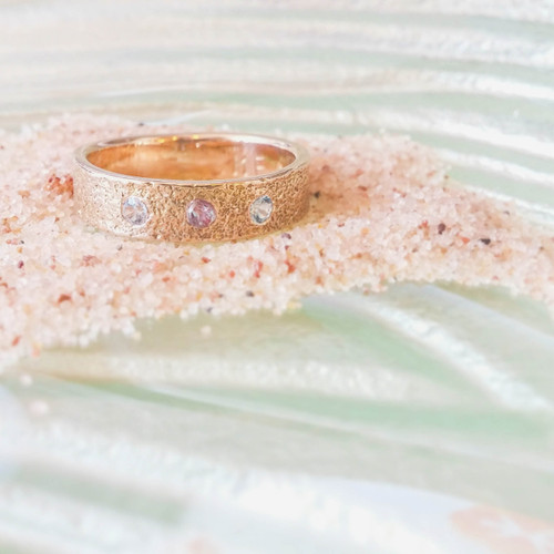 Gold Family Ring Printed with PEI Sand