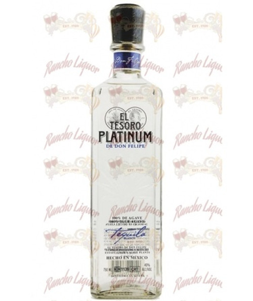 El Tesoro Platinum Blanco Tequila 750mL