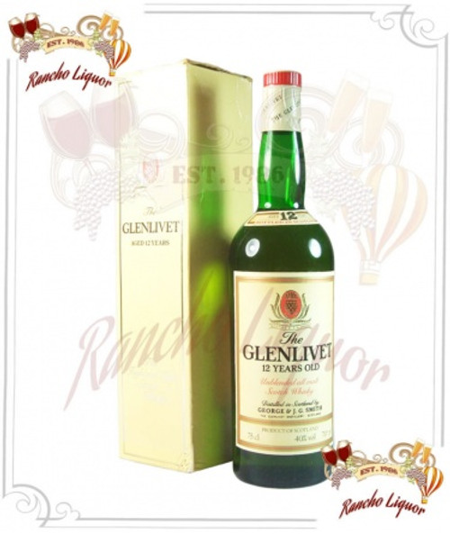 Glenlivet 12 Year Single Malt Scotch Whisky