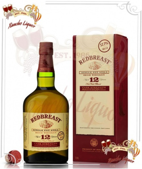 Redbreast 12 Year Single Pot Still Irish Whiskey 750mL