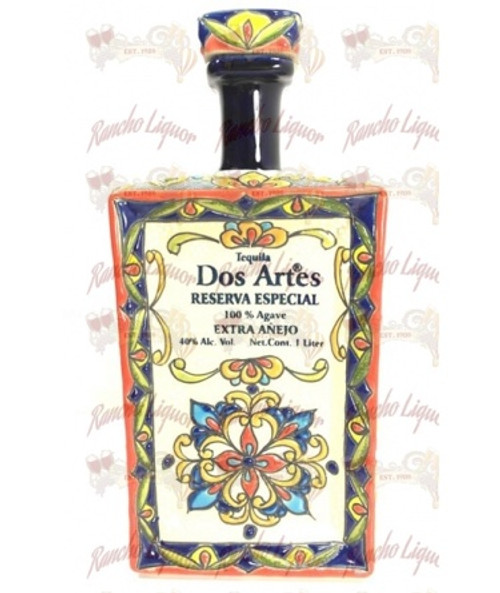 Dos Artes Reserva Especial Extra Anejo Tequila (ceramic bottle) 1L