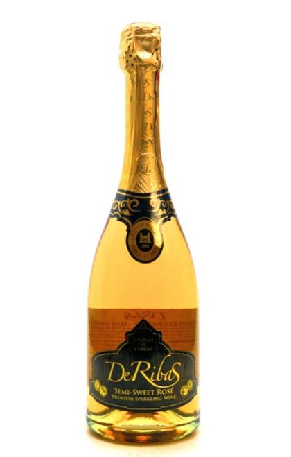 DeRibas Premium Semi Sweet Rose Sparkling Wine