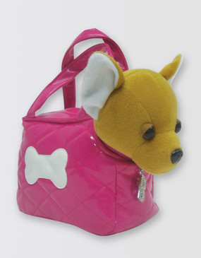 Legally Blonde Bruiser Plush in Handbag