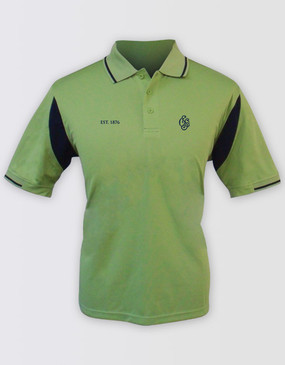 SCG Mens Green Heritage Polo
