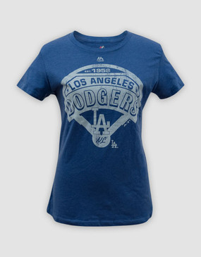 MLB LA Dodgers Ladies Mandate to Win Heather Tee
