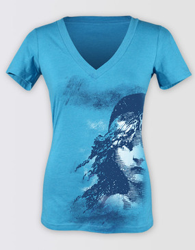 Les Miserables Australia Ladies Teal Half Cosette Tee