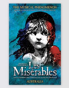 Les Miserables Australia Poster