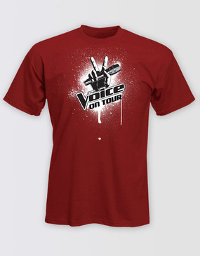 The Voice On Tour Kids Red Logo Tee
